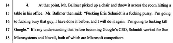 Steve Ballmer hates Google