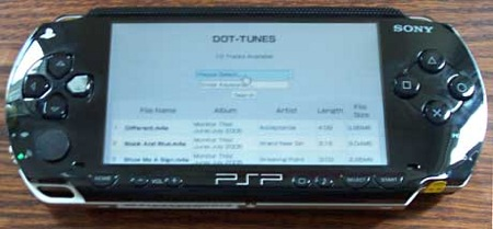 Dot Tunes on the PSP