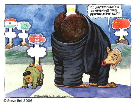 Steve Bell on Korea