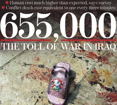 655,000 Murdered Iraqis