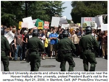 Stanford Students Protest Against Bush