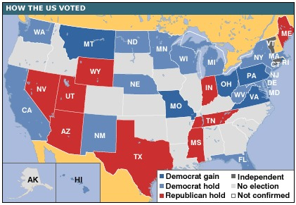 US Midterm Election Results 2006