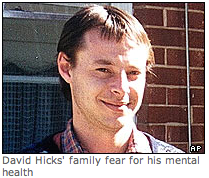 David Hicks, held without trial in Guantanamo
