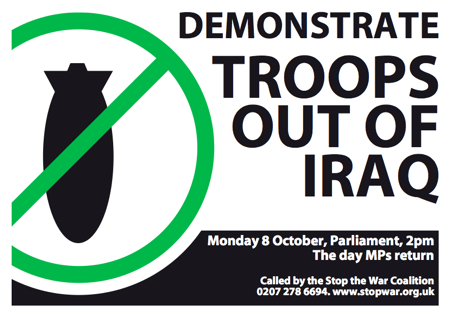 October 8th Antiwar demo