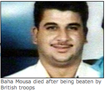 Baha Mousa - murdered by UK troops.