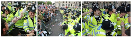Police Brutalise Peace Protestors