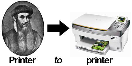 Printer to printer