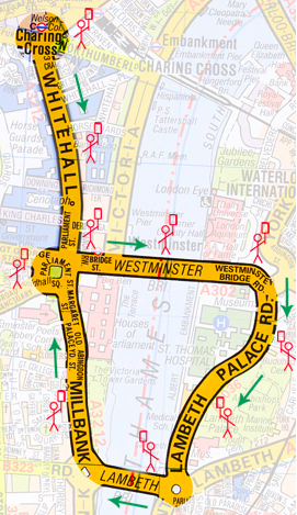Route of the demo