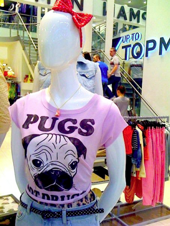 Gemma Corell - Pugs Not Drugs - the topshop version!