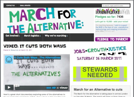 march for the alternative